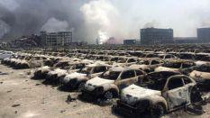 Asi quedaron algunos automoviles después de la explosión