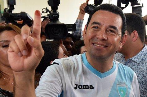 Jimmy Morales candidato electo por mayoría, para Gobernar Guatemala, según estadísticas de conteo