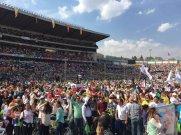 Encuentro con Jóvenes en el estadio Morelos