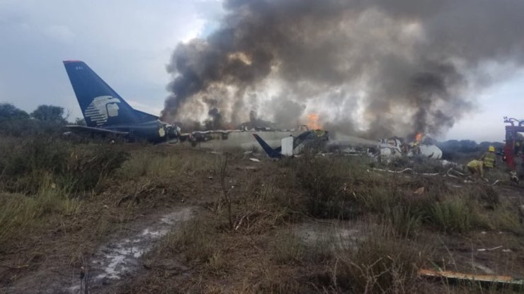 Avión accidentado de #AEROMEXICO